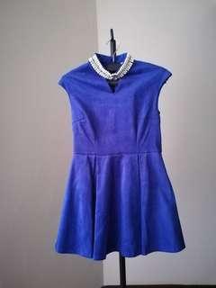 Blue short cute elegant dress