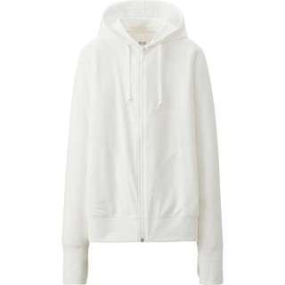 White hooded jacket