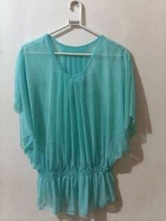 Pastel green see through top UNUSED