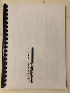 Compiled and hopefully complete orthopaedic notes by Joachim and Liyana