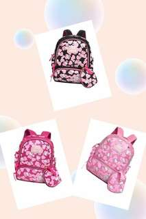 HK Bagpack w/ Coinpurse  Php 480 3 Compartments  SIZE : 13 inch #btr