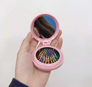 2 in 1 comb and mirror