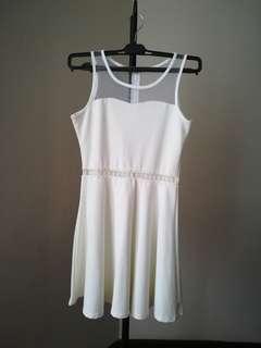 WHITE little cute elegant short dress