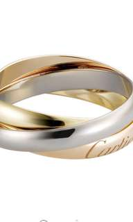 Cartier Trinity Tri Color Ring