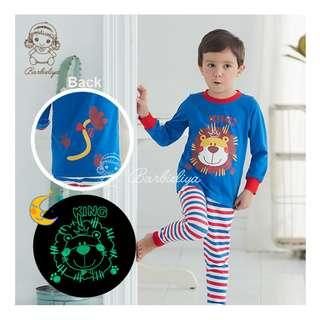 Kids Pyjamas Glow in the dark Lion Set