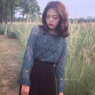 Korea Ulzzang Knitted Long Sleeve