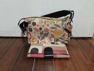 BALLY bag with wallet authentic