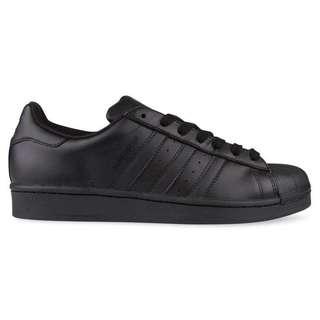 Adidas all black superstar