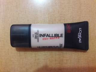 HIGH COVER FOUNDATION LOREAL INFALLIBLE PRO MATTE (Shade : 102)