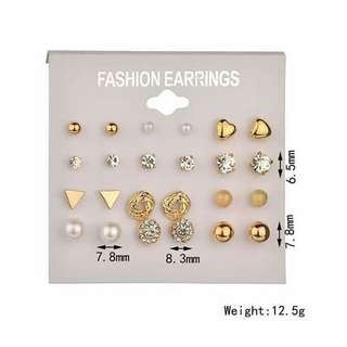 Silver or gold stainless earings