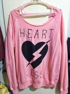 Pink offshoulder sweater