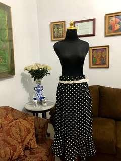 SALE! Hongkong Mermaid polka skirt