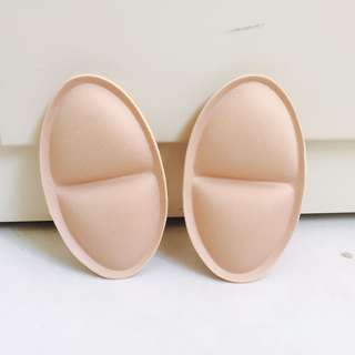 Beige Fabric Push Up Bra Pad Padding Insert