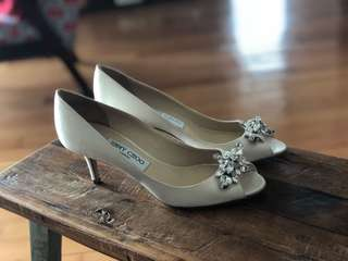 Jimmy Choo Satin & Crystal shoes
