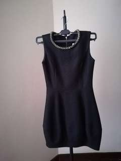 Black cute short elegant dress