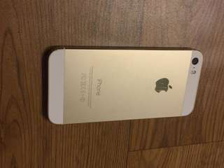 Beautiful gold iPhone 5s 64gb