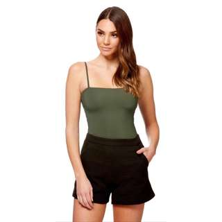 Kookai Blair Bodysuit in Khaki