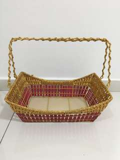 Square Basket Gold