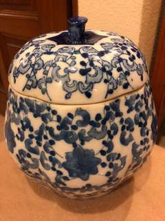 Porcelain blue white jar