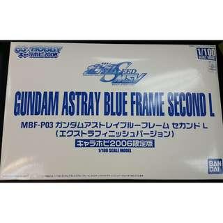 全新 BANDAI model kit 1比100 C3 HOBBY 2006 Expo Gundam Astray Blue Frame Second L 會場限定電鍍版藍迷惘高達模型