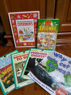 6 Kids science factual books
