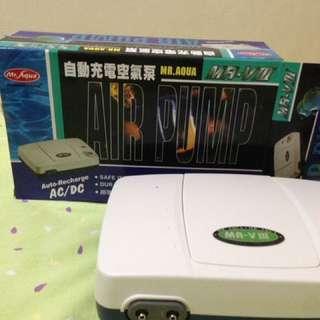 水族用自動充電打氣機 停電可用 MR. AQUA
