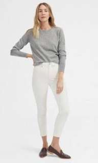 Everlane White High waist ankle jeans
