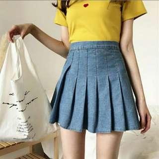 Denim AA Tennis Skirt