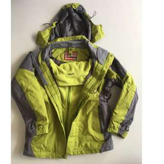 Wind-proof winter clothing with detachable inner layer (Size 140)