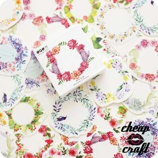 45pcs Pretty Flowers Garlands Sticker Pack