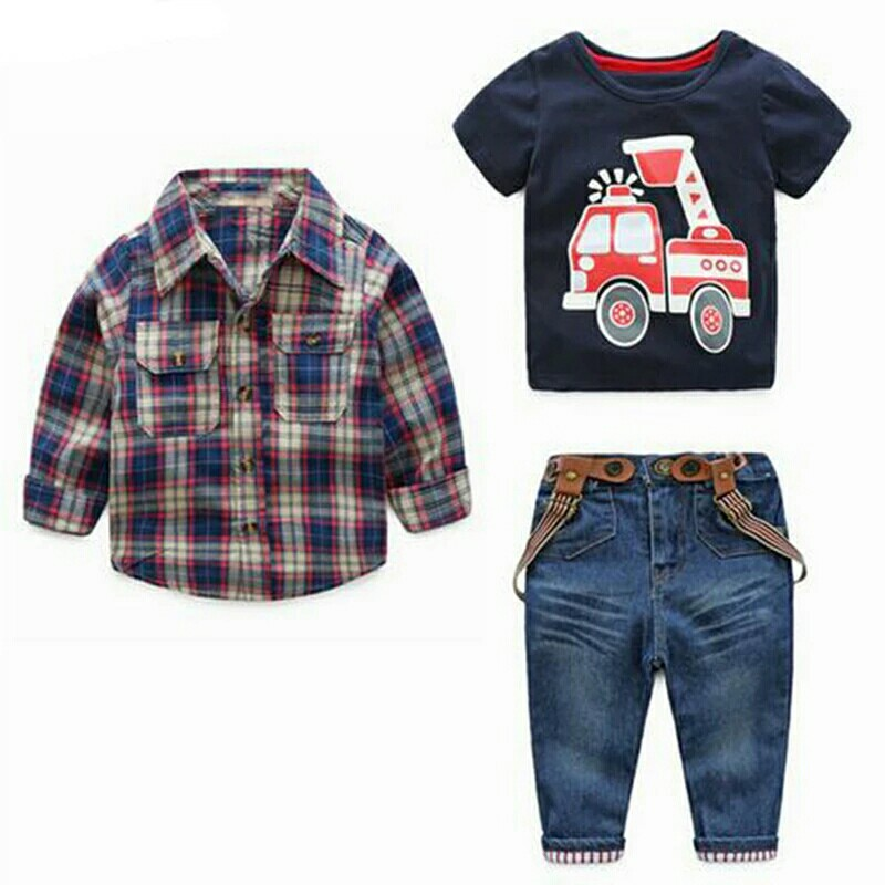 4dad0af78 1set Children's Clothing Sets for Spring Baby Boy Suit Long Sleeve ...