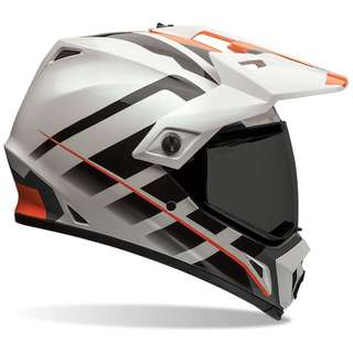 Bell MX-9 MX 9 SIZE MEDIUM ONLY Adventure Full Face Motorcycle Motorbike Off Road Adventure Motorcross Motor cross Helmet Orange White e Scooter eScooter Electric Scooter Helmet