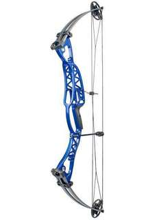 Compound Bow 40-60lbs 40 Inch Aluminum Alloy Black/Blue Handle with Peep Sight for Adult Hunter Outdoor Archery Hunting Shooting