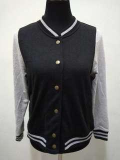 CLEF DE SOL Black Varsity Jacket