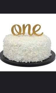 Customised cake topper