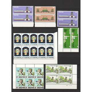 CATALOGUE VALUE S$22.60 SMALL COLLECTION OF SINGAPORE OLD STAMPS IN MINT MNH UNUSED CONDITION