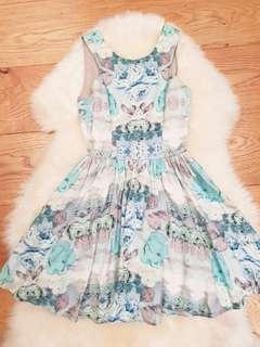 Keepsake Floral Skater Dress Size XS