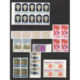 CATALOGUE VALUE S$27.50 SMALL COLLECTION OF SINGAPORE OLD STAMPS IN MINT MNH UNUSED CONDITION