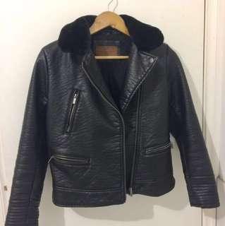 Zara PVC Leather Jacket