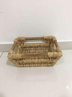 Square Basket Brown