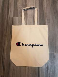 Champion 白色帆布袋