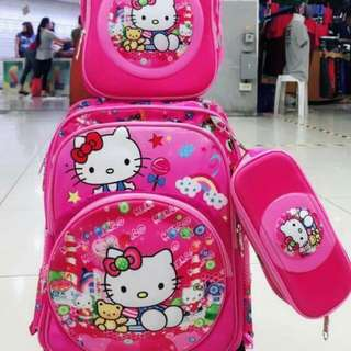 CHARACTER 3IN1 KIDS TROLLEY BAG