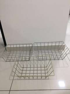 Metal Square Basket 3 pcs