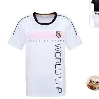 [Pre-order] White Fila dri-fit sports jersey  (eco-friendly coffee fabric) WORLD CUP EDITION