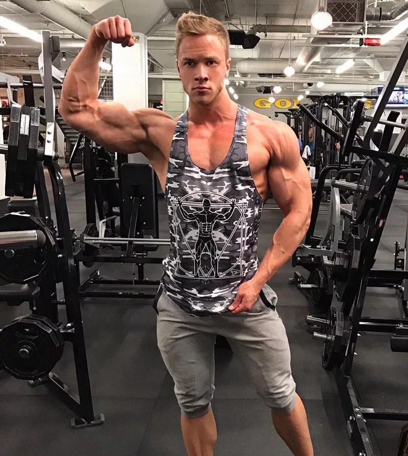 7637246ba4b97 2018 New Men Bodybuilding Tank Tops Camouflage sleeveless Shirt Gyms ...