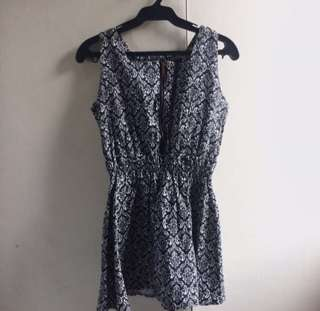 Abstract Black & White Dress