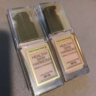 Max factor foundation (原價158) Color : 40light Ivory/45 warm almomd