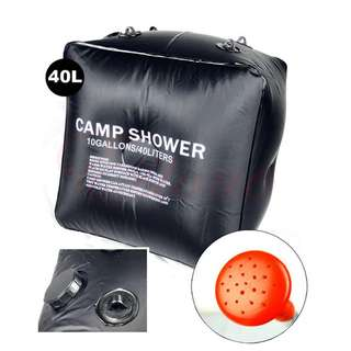 Outdoor Camping Shower Tool Portable 40L Solar Heated Shower Bag Hiking Equipment