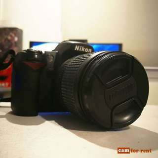 Nikon D90 FOR RENT @ 600/day