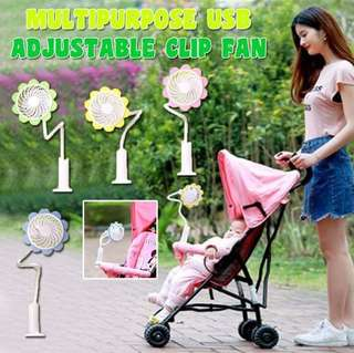 Multipurpose USB adjustable clip fan
